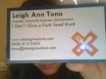 Business card front!